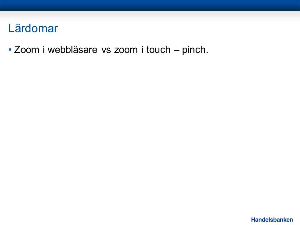 Lärdomar Zoom i webbläsare vs zoom i touch – pinch.
