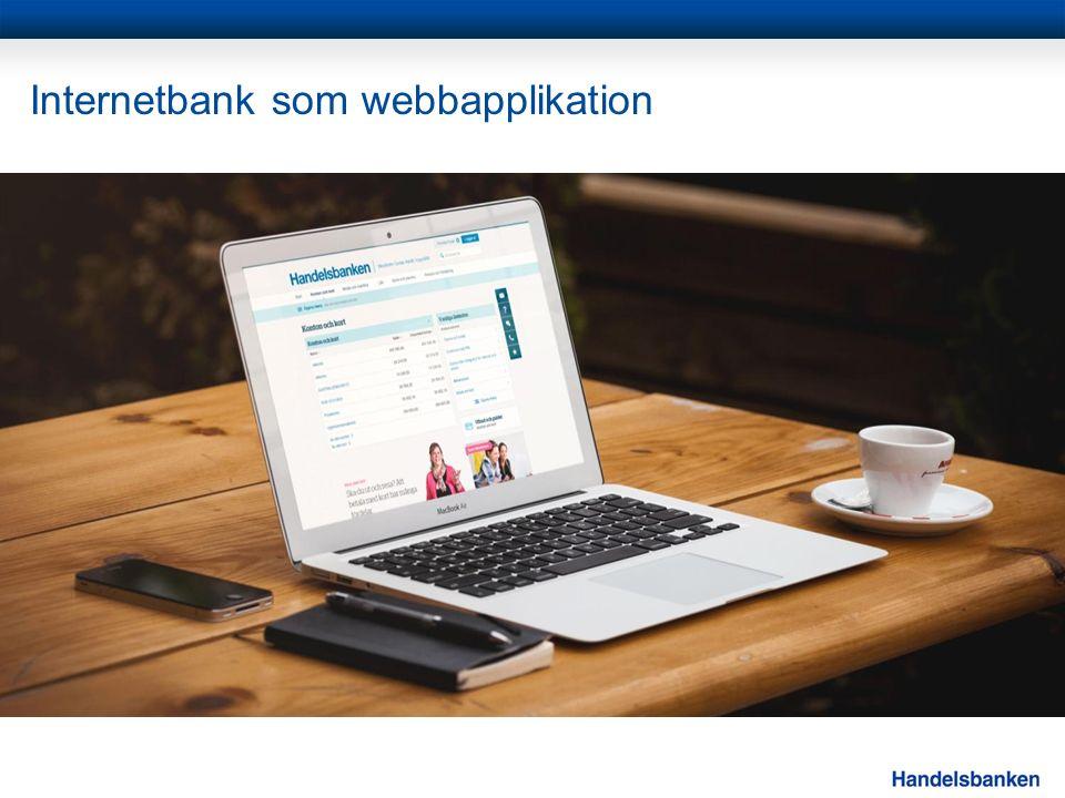 Internetbank som webbapplikation