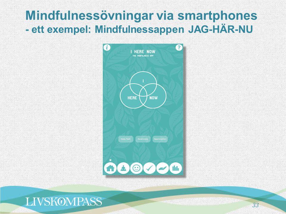 Mindfulnessövningar via smartphones - ett exempel: Mindfulnessappen JAG-HÄR-NU 33