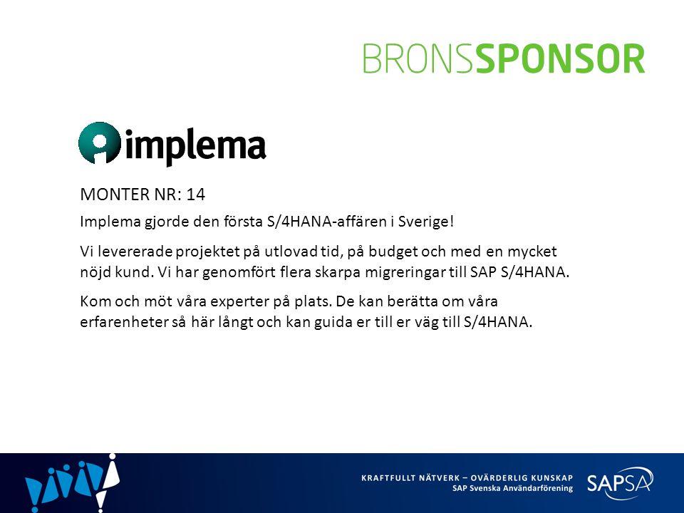 MONTER NR: 14 Implema gjorde den första S/4HANA-affären i Sverige.
