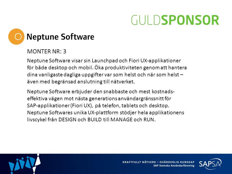 MONTER NR: 3 Neptune Software visar sin Launchpad och Fiori UX-applikationer för både desktop och mobil.