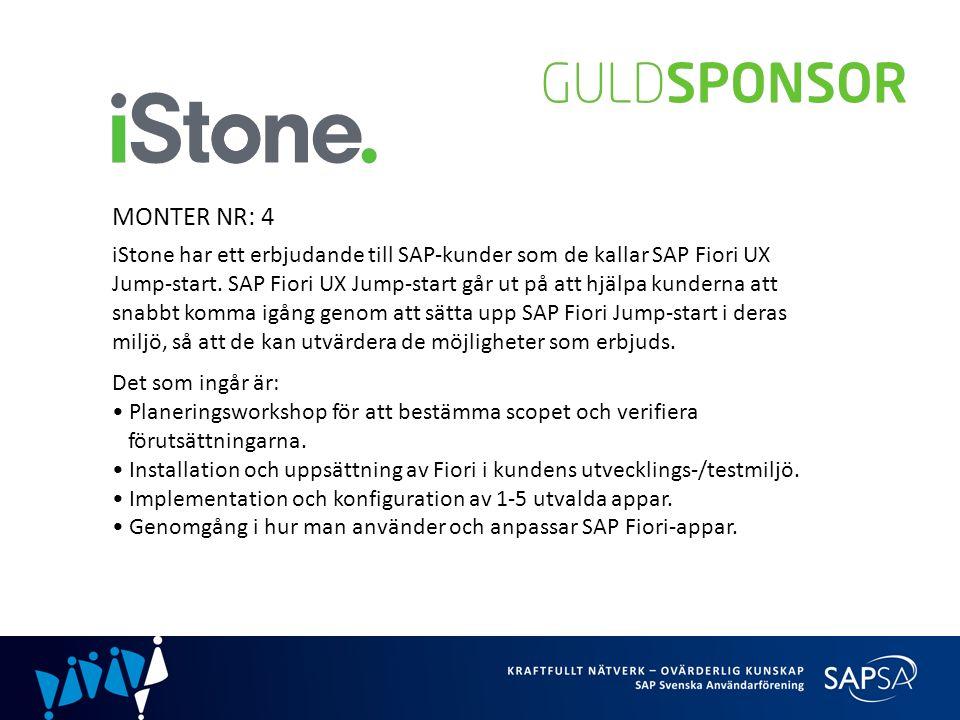 MONTER NR: 4 iStone har ett erbjudande till SAP-kunder som de kallar SAP Fiori UX Jump-start.