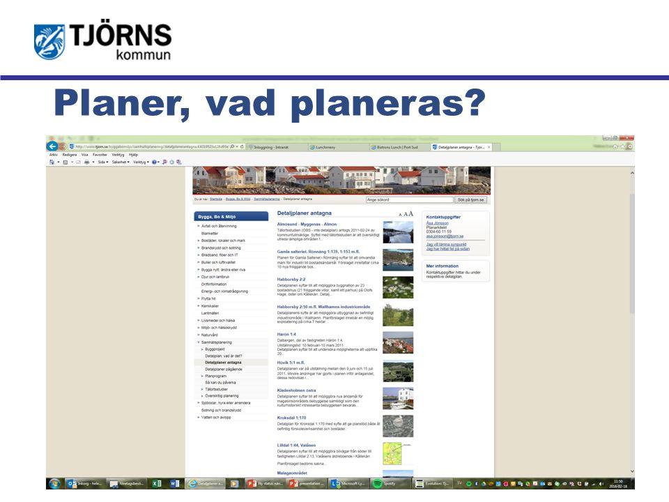 Möjligheternas ö Planer, vad planeras?