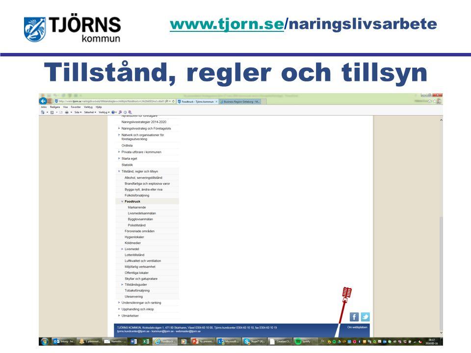 Möjligheternas ö Tillstånd, regler och tillsyn www.tjorn.sewww.tjorn.se/naringslivsarbete