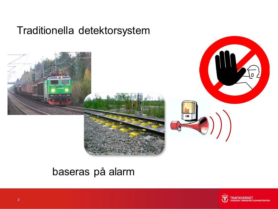2 Traditionella detektorsystem baseras på alarm