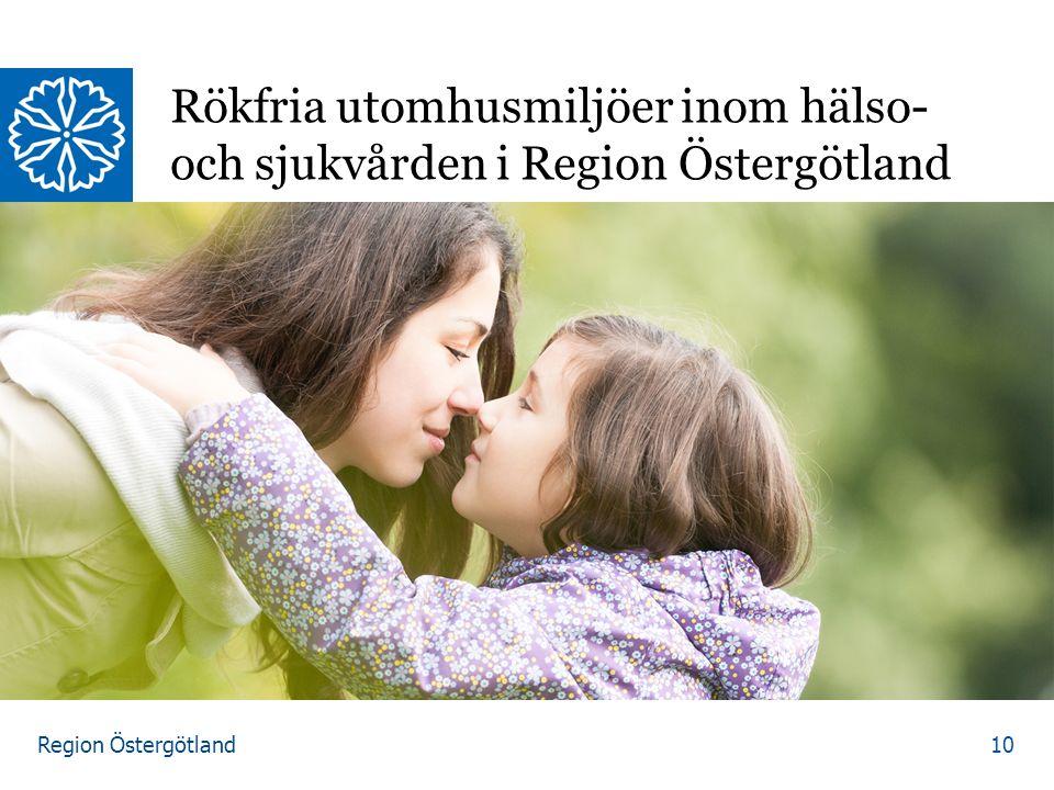 Region Östergötland Rökfria utomhusmiljöer inom hälso- och sjukvården i Region Östergötland 10