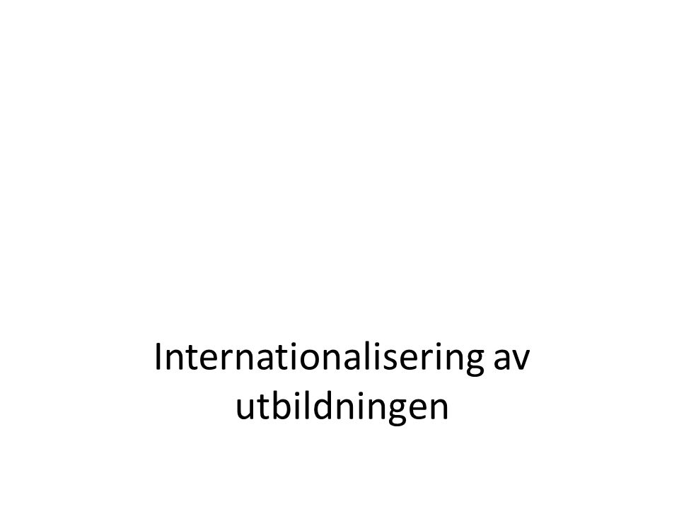 Internationalisering av utbildningen