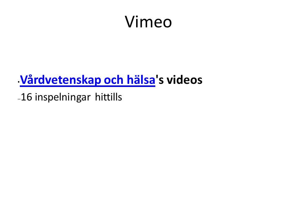 Vimeo Vårdvetenskap och hälsa's videos Vårdvetenskap och hälsa – 16 inspelningar hittills