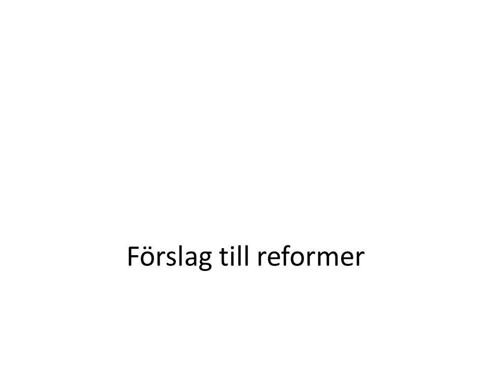 Förslag till reformer
