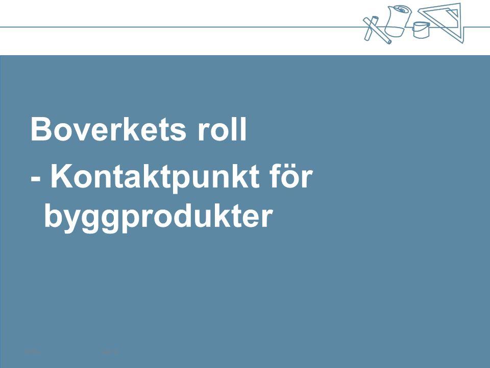 120504Sida 19 Boverkets roll - Kontaktpunkt för byggprodukter