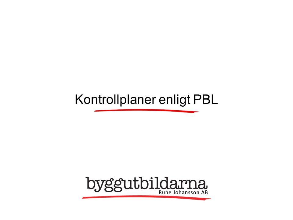 Kontrollplaner enligt PBL