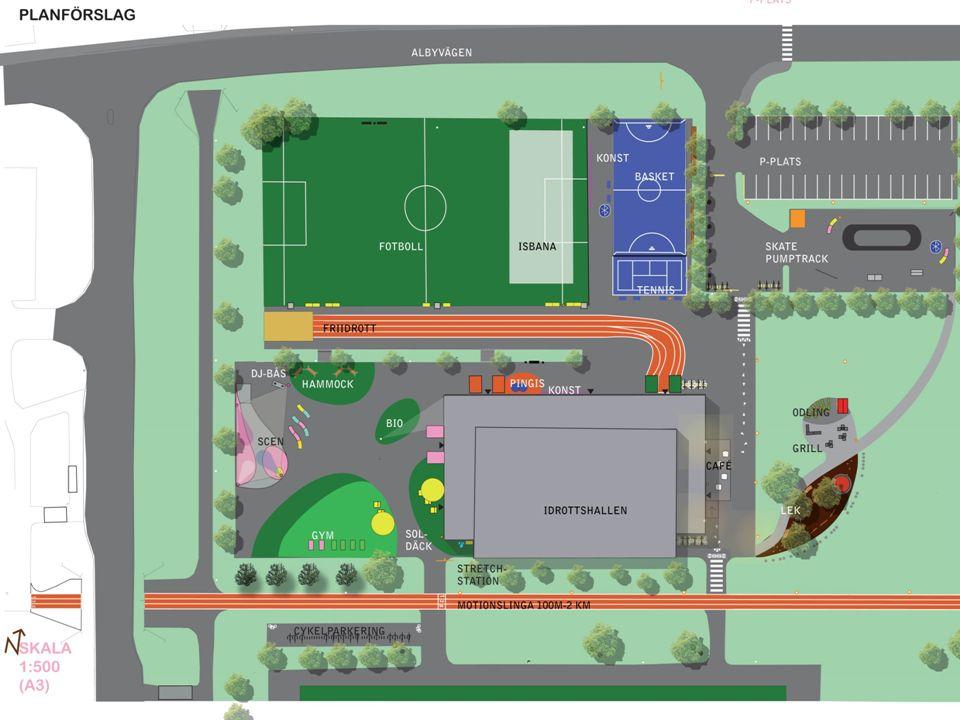 Konceptet Folkhälsopark Sliten, otrygg idrottplats i miljonprogramsområde anlagd på 1960-70 talet omvandlas med stort medborgarinflytande till en sjudande aktivitetsplats med relativt små investerade resurser.