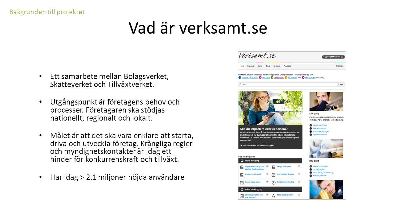 Ett samarbete mellan Bolagsverket, Skatteverket och Tillväxtverket.