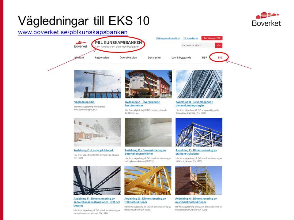 Vägledningar till EKS 10 www.boverket.se/pblkunskapsbanken www.boverket.se/pblkunskapsbanken