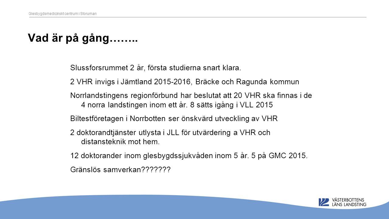 Glesbygdsmedicinskt centrum i Storuman Vad är på gång……..