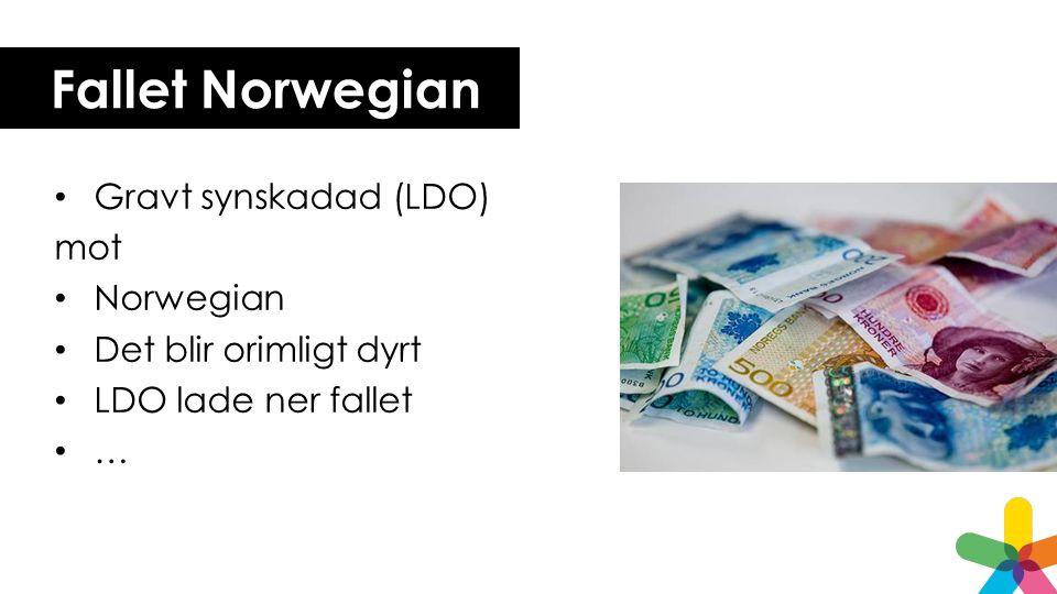 Fallet Norwegian Gravt synskadad (LDO) mot Norwegian Det blir orimligt dyrt LDO lade ner fallet …