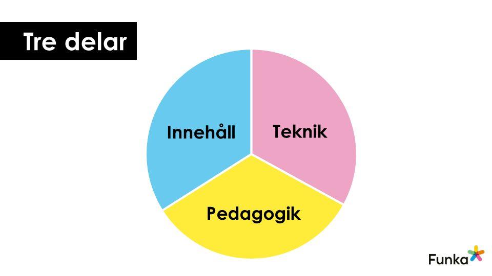 Tre delar Pedagogik Teknik Innehåll