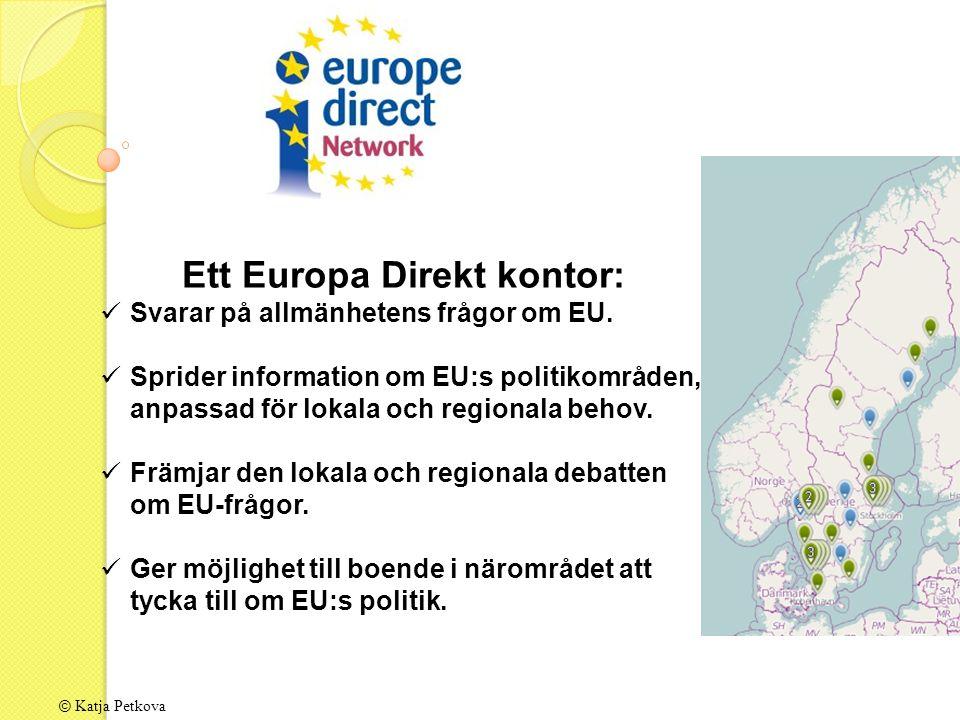© Katja Petkova Ett Europa Direkt kontor: Svarar på allmänhetens frågor om EU.