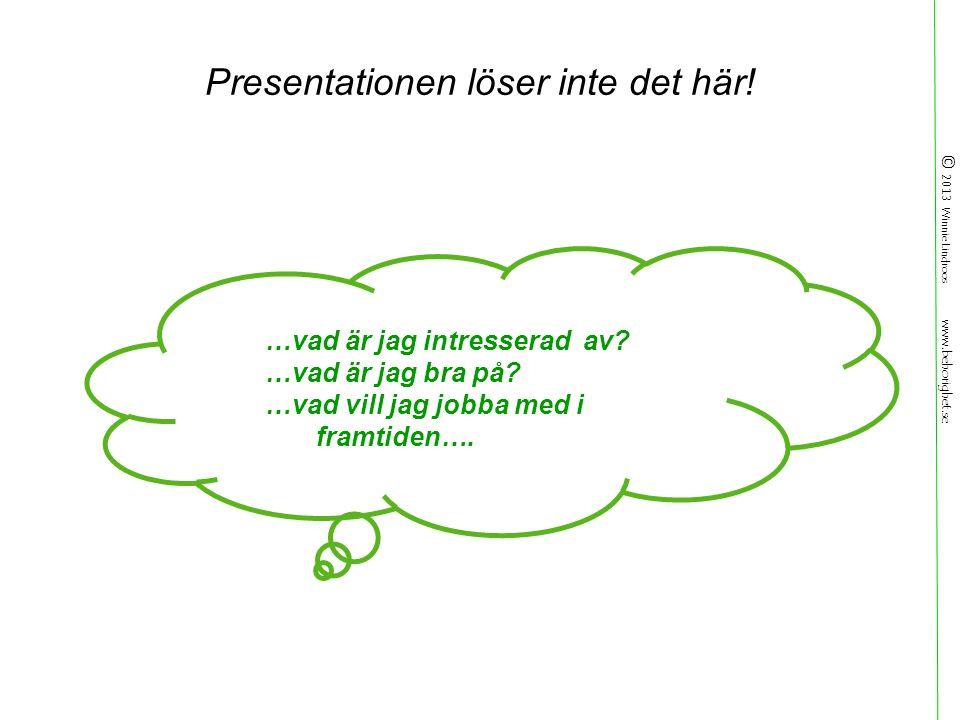 © 2013 Winnie Lindroos www.behorighet.se Presentationen löser inte det här.