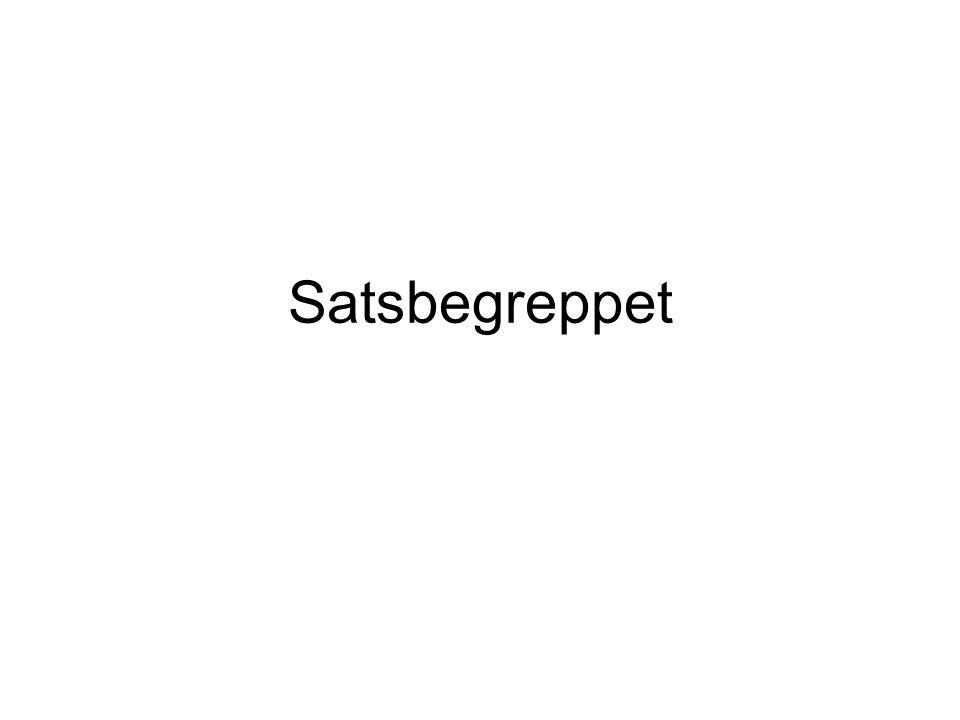 Begreppen mening och sats På svenska talar man ofta om meningar och satser, men på tyska finns inte begreppet mening.