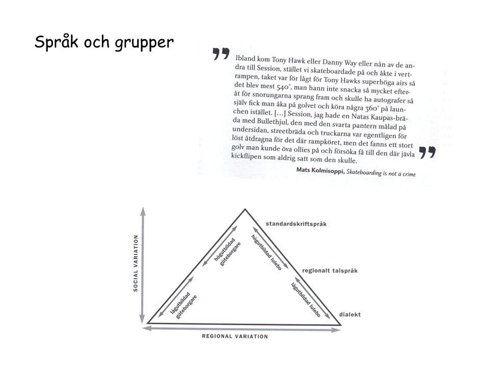 Språk och grupper