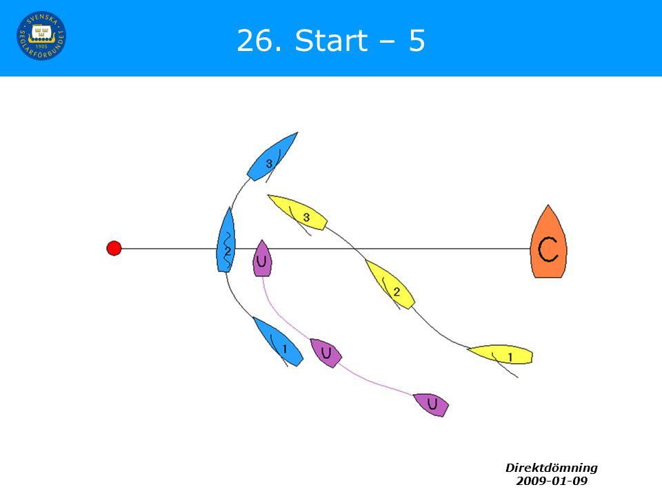 Direktdömning 2009-01-09 26. Start – 5