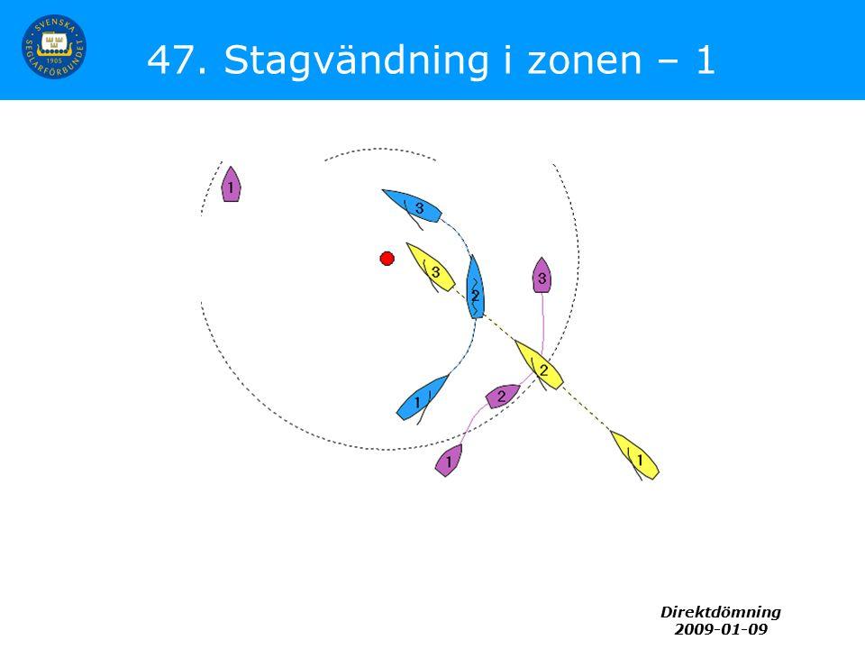 Direktdömning 2009-01-09 47. Stagvändning i zonen – 1