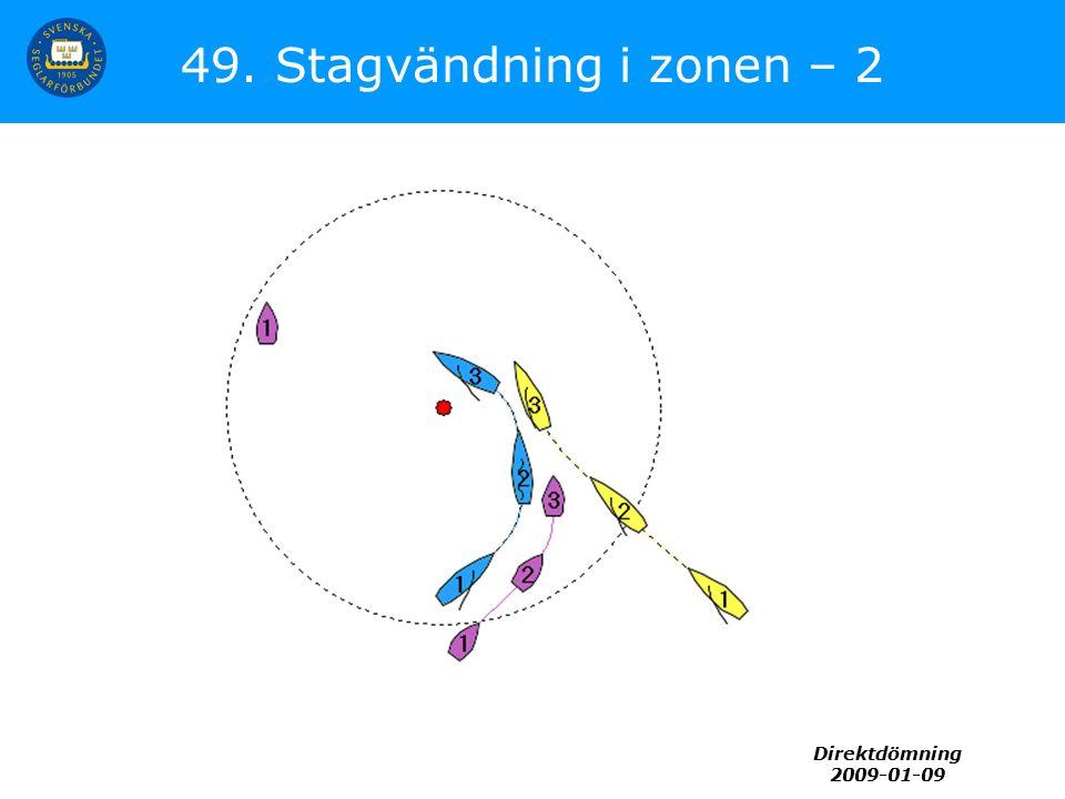 Direktdömning 2009-01-09 49. Stagvändning i zonen – 2