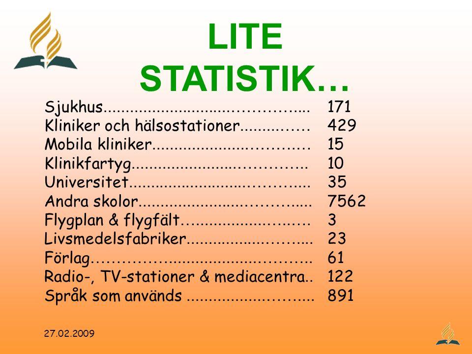 LITE STATISTIK… Sjukhus.............................………….... 171 Kliniker och hälsostationer.........…… 429 Mobila kliniker.....................……….…