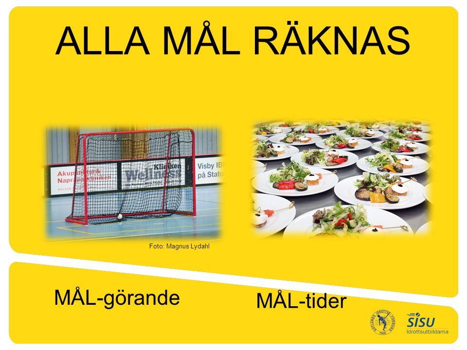ALLA MÅL RÄKNAS MÅL-görande MÅL-tider Foto: Magnus Lydahl