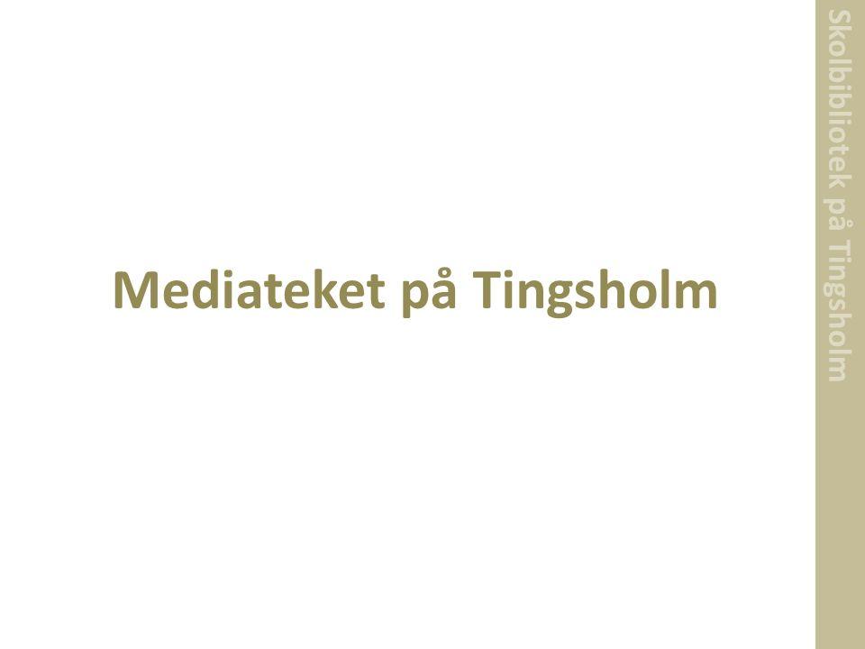 Skolbibliotek på Tingsholm Mediateket på Tingsholm