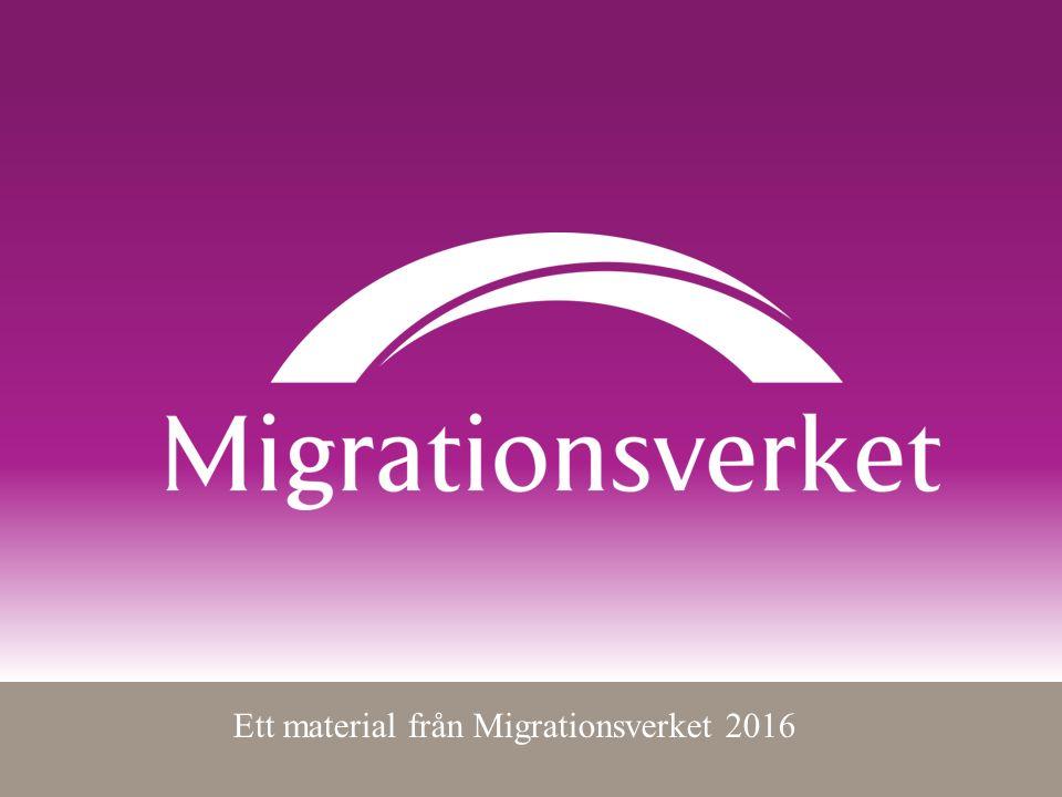 Ett material från Migrationsverket 2016