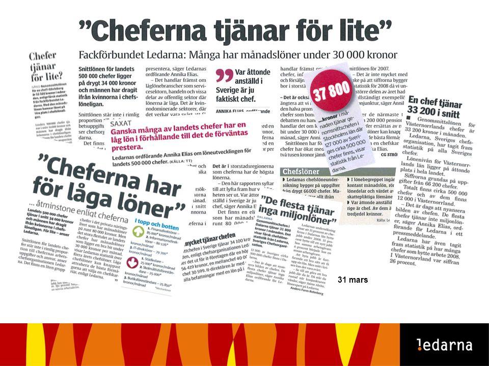 31 mars Annika Elias i Nyhetsmorgon TV4 Chefslönerna i morgontidningar i hela landet
