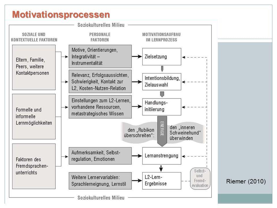 Motivationsprocessen Riemer (2010)