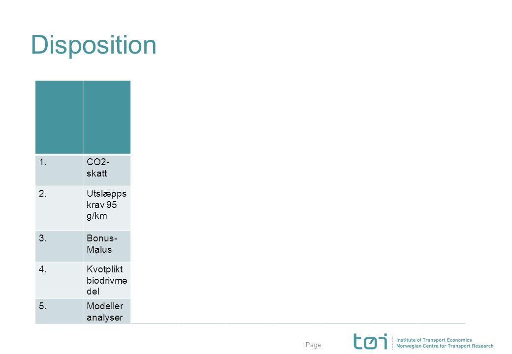 Page Disposition kørstil underhåll kørstræcka drivmedel bilmodell transport- medel lokalisering 1.CO2- skatt xxxxxxx 2.Utslæpps krav 95 g/km 3.Bonus-
