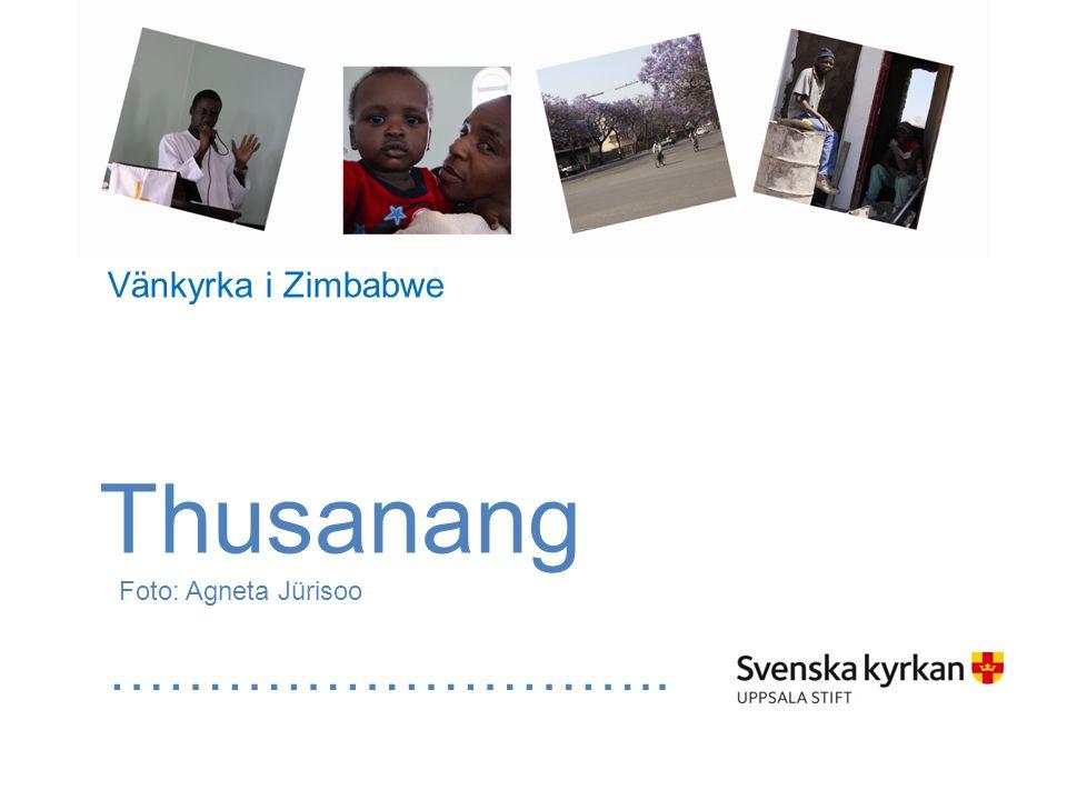 Thusanang Foto: Agneta Jürisoo ……………………….. Vänkyrka i Zimbabwe