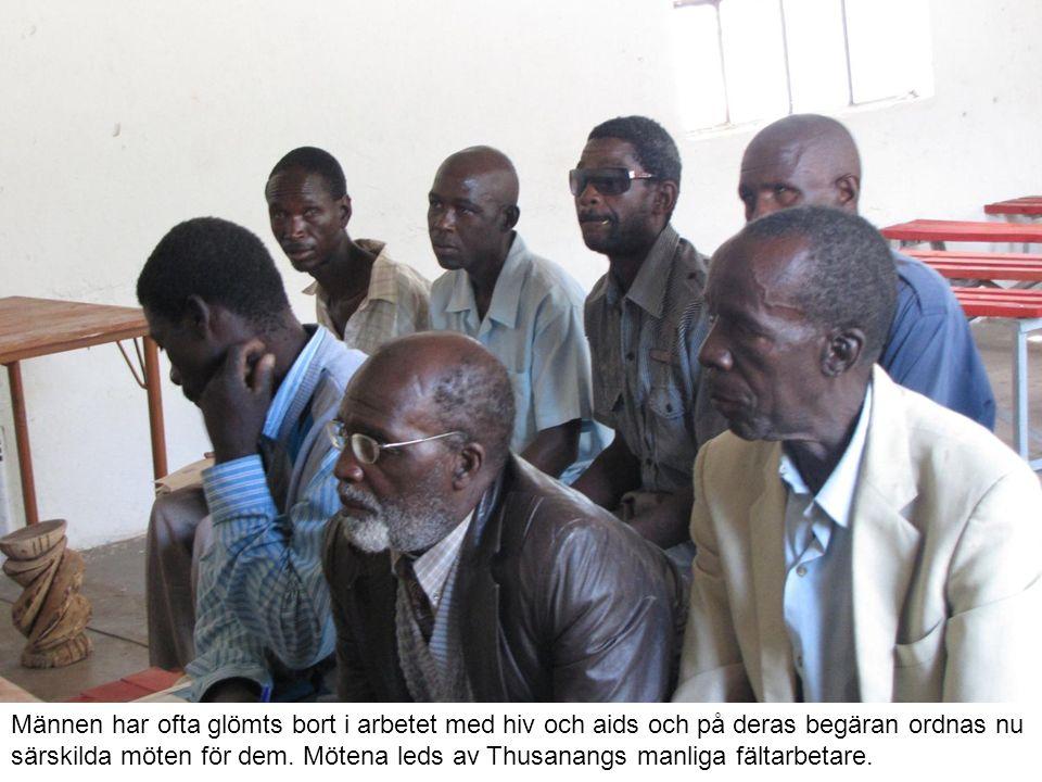 Männen har ofta glömts bort i arbetet med hiv och aids och på deras begäran ordnas nu särskilda möten för dem.