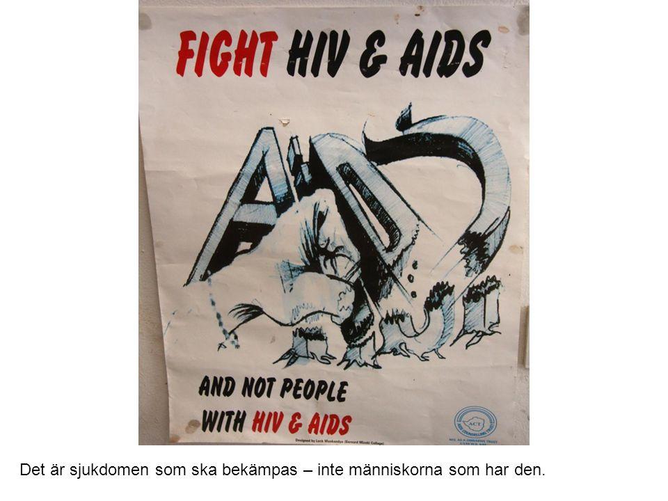 Utbildade stödpersoner finns till för dem som lever med hiv och aids.