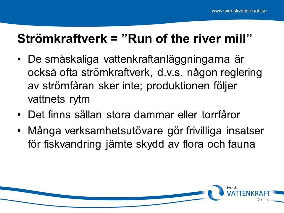 www.svenskvattenkraft.se Målkonflikt eller möjlighet att nå flera mål.