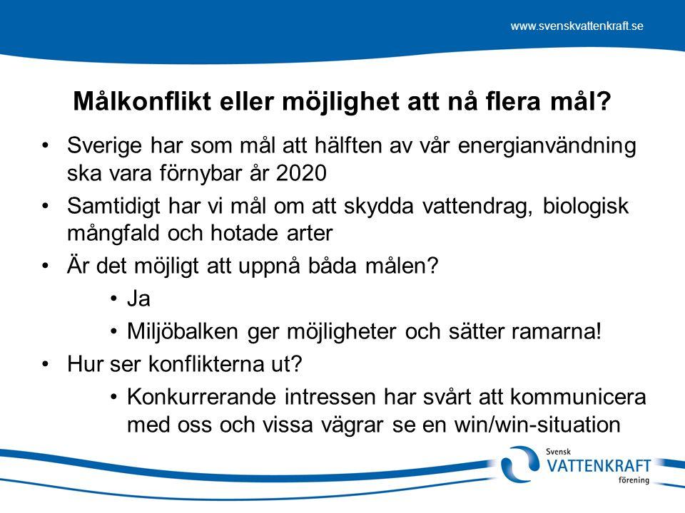 www.svenskvattenkraft.se Villkor måste omprövas på rättsäkert vis Det som händer nu är att (vissa) länsstyrelser på löpande band kräver att anläggningar som funnits i (många) hundra år ska söka nya tillstånd.