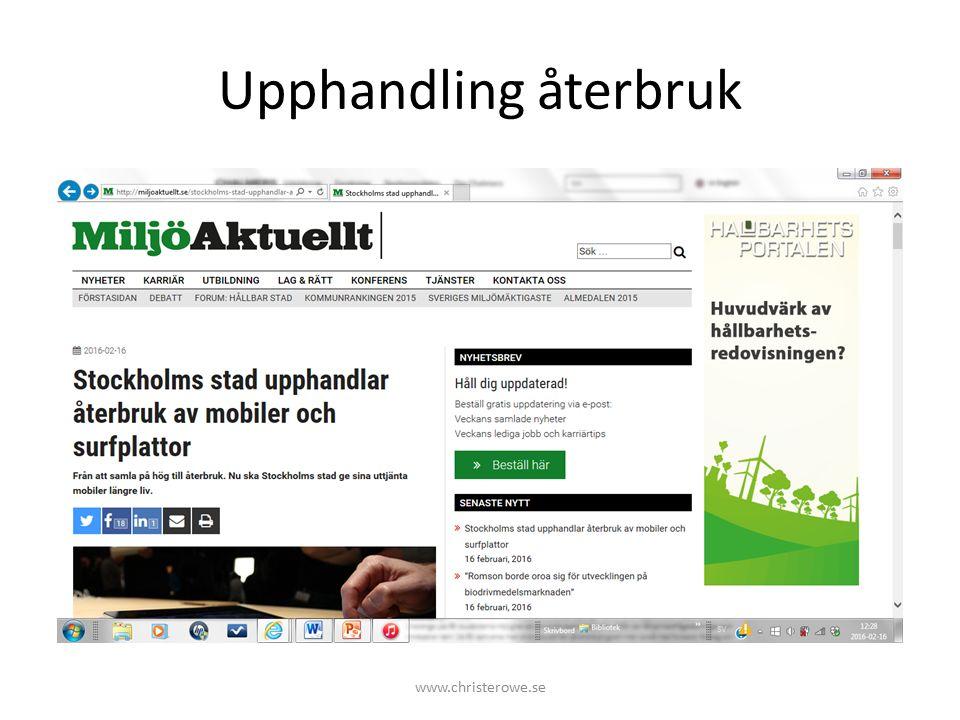 Upphandling återbruk www.christerowe.se