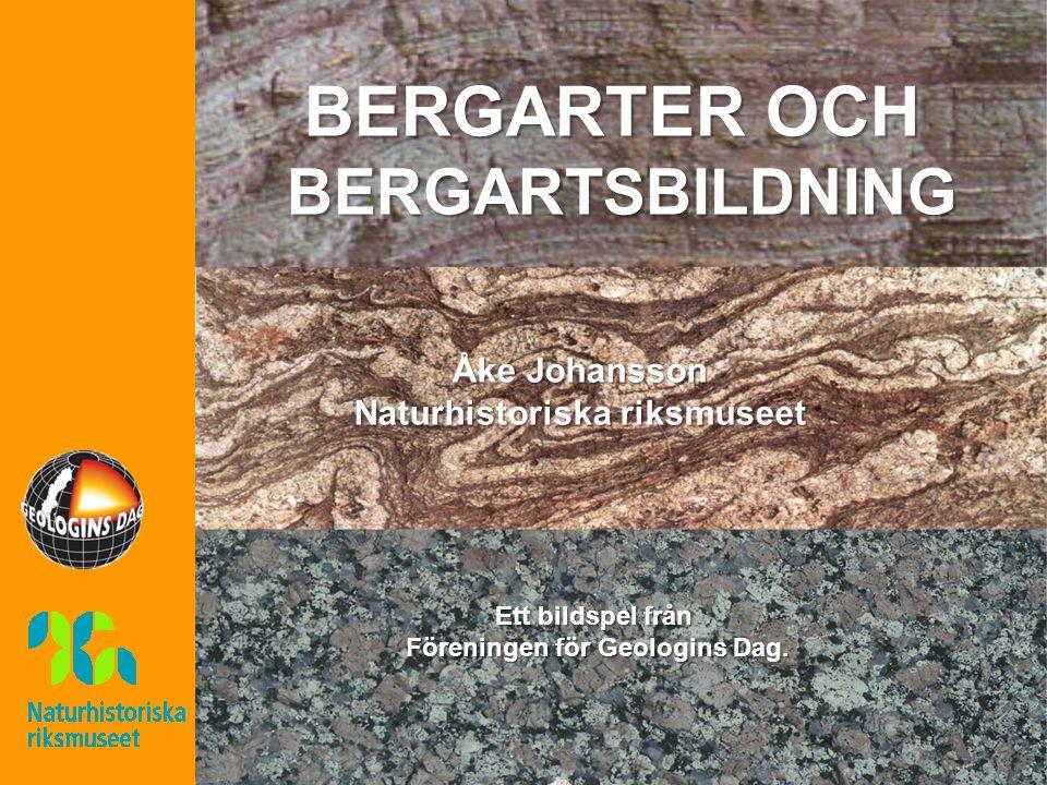 Ett bildspel från Föreningen för Geologins Dag. BERGARTER OCH BERGARTSBILDNING Åke Johansson Naturhistoriska riksmuseet
