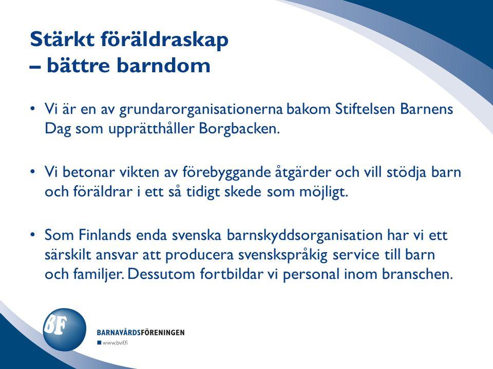 Vi är en av grundarorganisationerna bakom Stiftelsen Barnens Dag som upprätthåller Borgbacken.