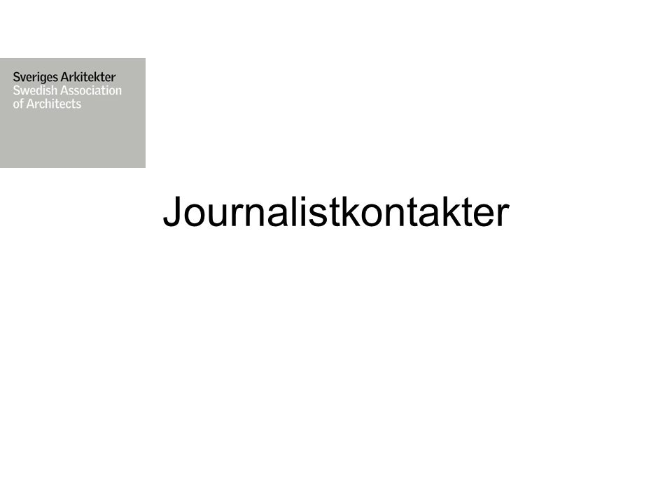 Journalistkontakter