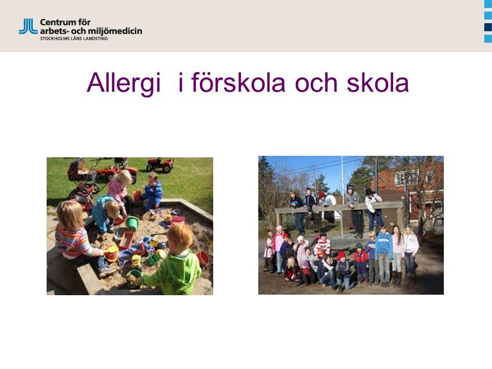 Allergi i förskola och skola