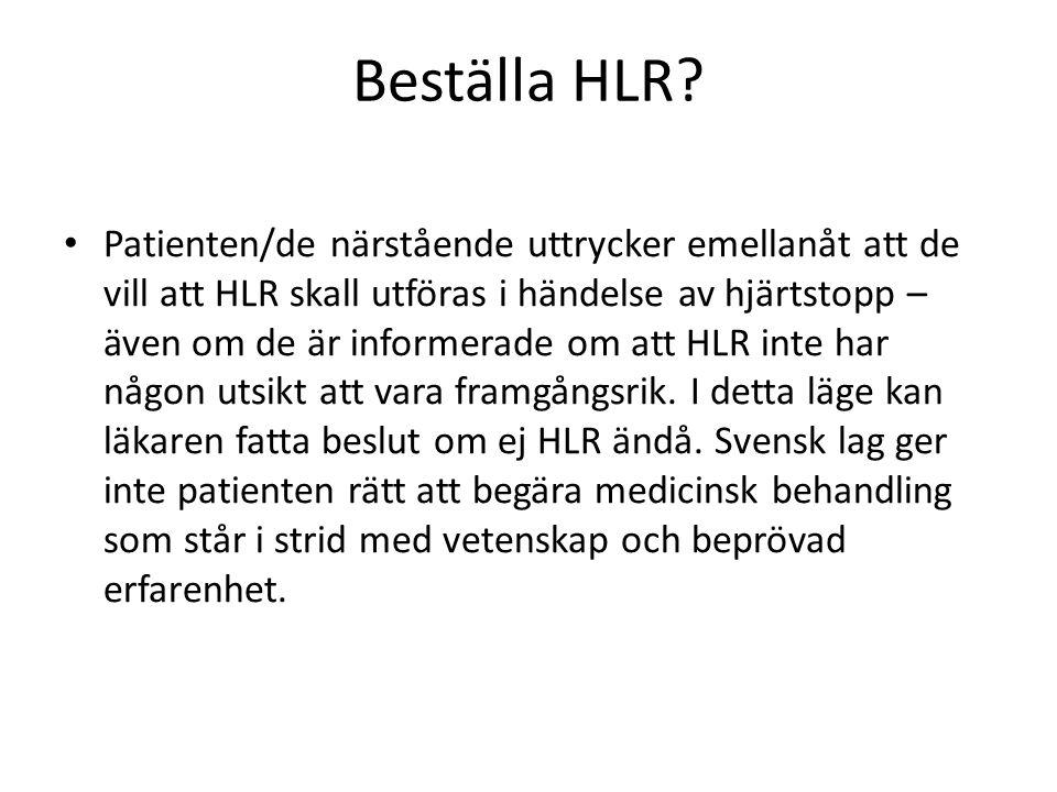 Beställa HLR.