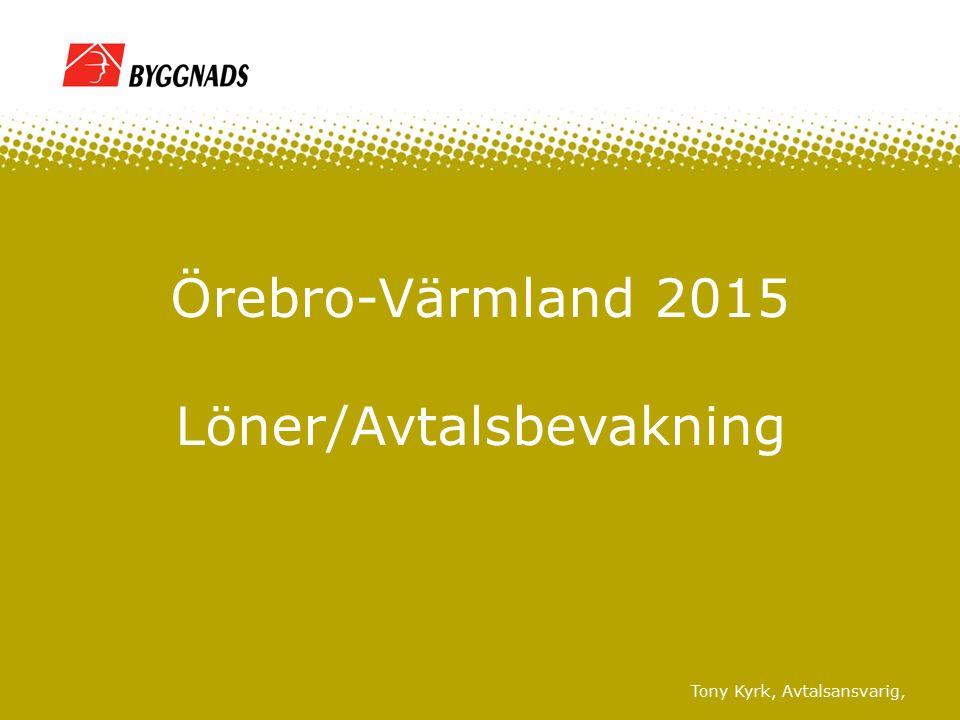 Tony Kyrk, Avtalsansvarig, Örebro-Värmland 2015 Löner/Avtalsbevakning