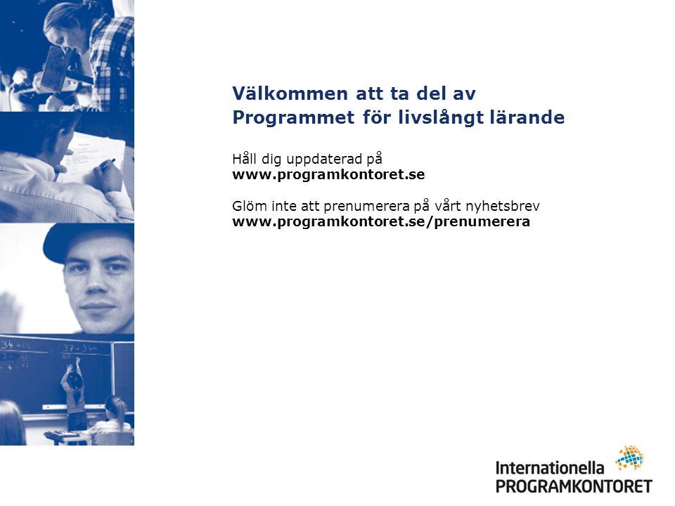 Håll dig uppdaterad på www.programkontoret.se Glöm inte att prenumerera på vårt nyhetsbrev www.programkontoret.se/prenumerera Välkommen att ta del av