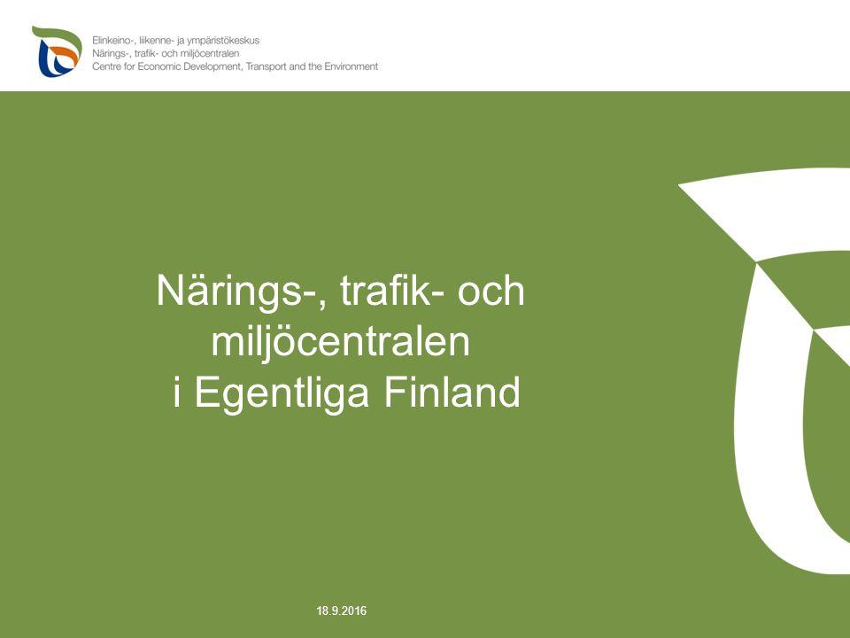 Närings-, trafik- och miljöcentralen i Egentliga Finland 18.9.2016