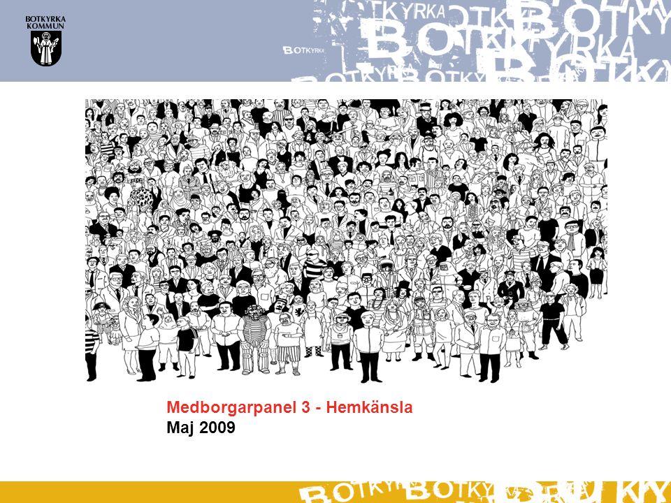 Information om undersökningen MetodOnlineintervju Urval Kvinnor/män 18-64 år boende i Botkyrka kommun Nettourval102 genomförda intervjuer DatainsamlingMaj 2009 Källa: YouGov (Zapera)